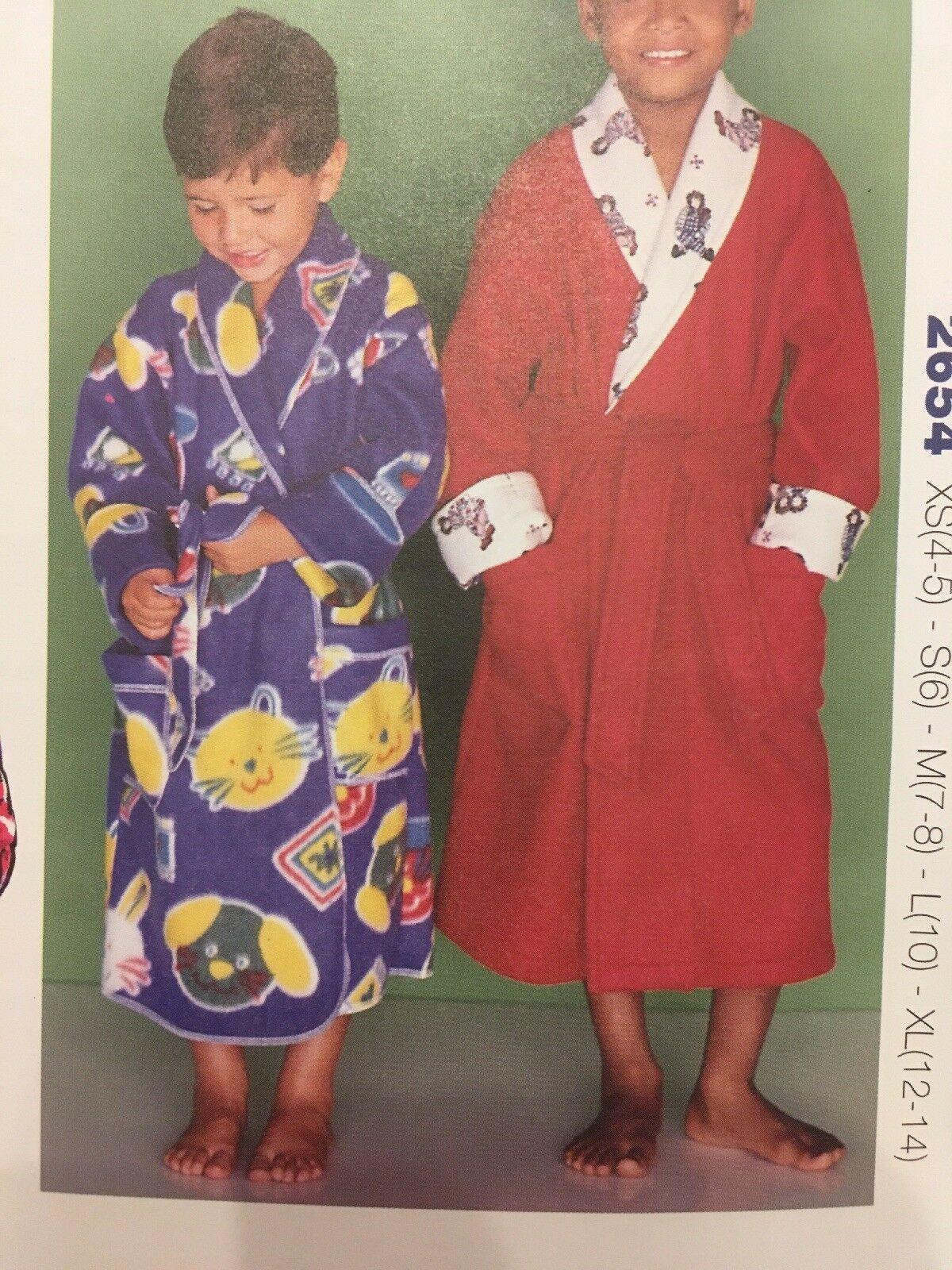Kwik Sew 2654 Wrap Robes Children Boy Girl Sewing Pattern Size XS-XL Uncut image 2