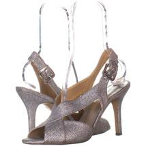 Michael Kors 2365 Peep Toe Ankle Strap Heels, Silver Glitter 665, Silver - $37.43