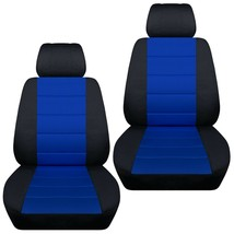 Front set car seat covers fits Chevy Equinox  2005-2020   black and dark blue - $72.99