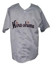 Hiroshima Carp Retro Baseball Jersey 1953 Button Down Grey Any Size image 1
