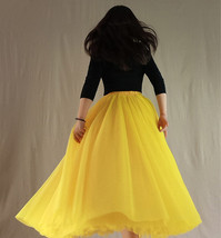 A Line Long Tulle Skirt High Waisted Red Long Tulle Skirt Puffy Tutu Pockets image 12