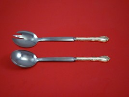 "Fontana by Towle Sterling Silver Salad Serving Set Modern 10 1/2"" Custom... - $149.00"