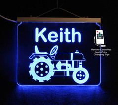 Tractor Sign, Night Light, Color Changing Acrylic LED Sign - $84.15