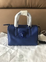 Versace $995 Medusa Palazzo Blue Leather Small Doctor Bag . NWT ! - €603,23 EUR