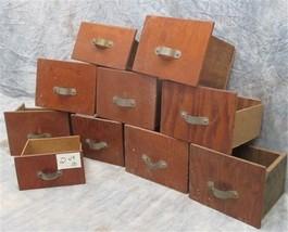 10 Vintage Wood Storage Drawers Organizer Storage Bins Arts Crafts Cubby... - $199.55 CAD