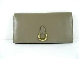 Ralph Lauren $98 New Taupe Tan Bifold Bennington Slim Wallet Clutch Checkbook X - $55.44