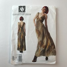 Vogue Designer Sewing Pattern V1354 Anne Klein Misses Long Dress Size A5... - $11.55