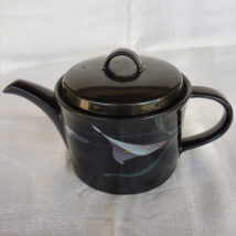 """Mikasa Tea Pot in the  """"Opus Black"""" with Calla Lily pattern - $80.00"""