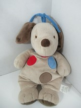 Carters Child of Mine tan plush puppy dog spots musical hanging crib pul... - $39.59