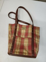 Plaid Longaberger Purse Handbag (a229) - $7.91
