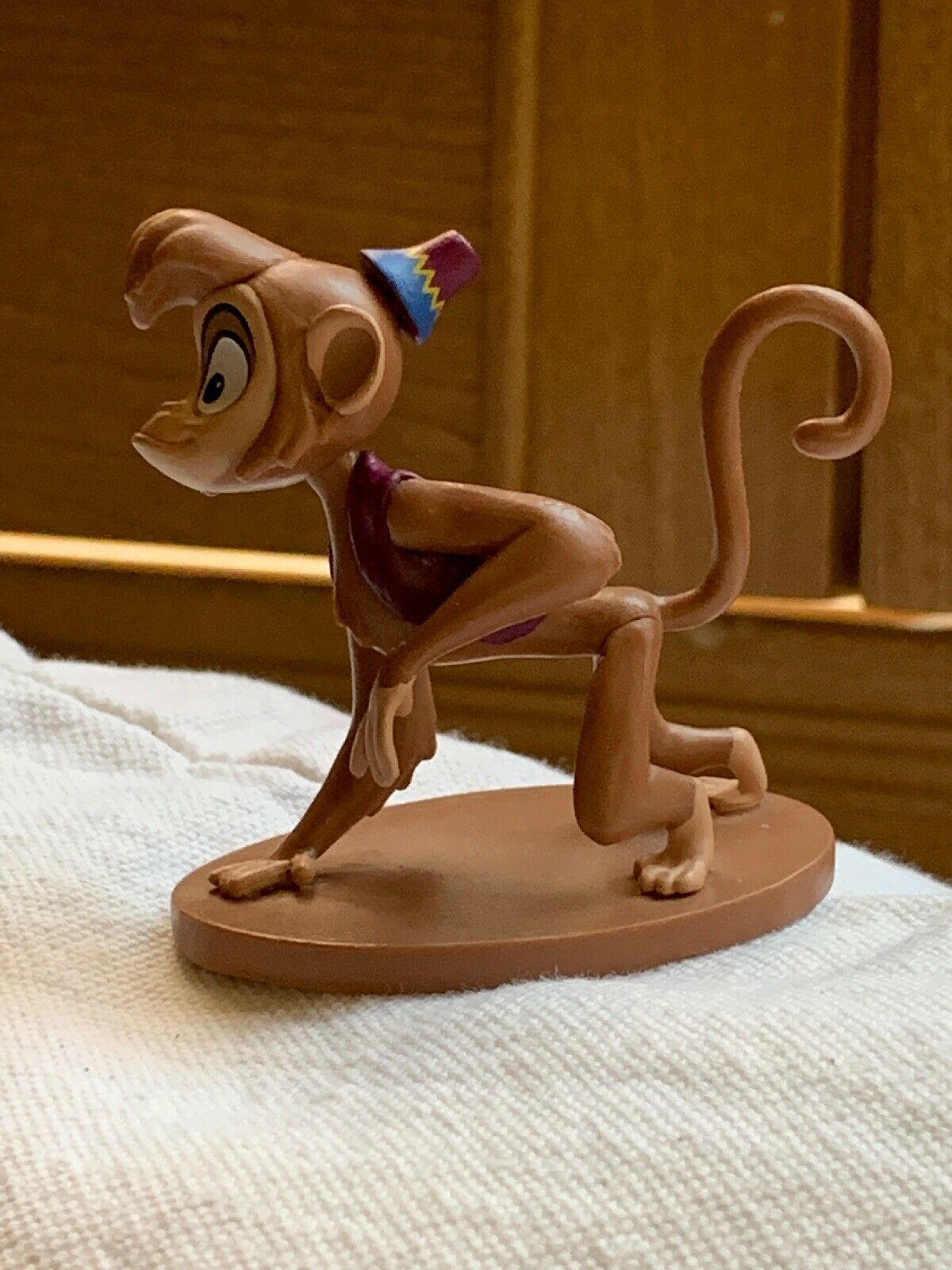 "Primary image for 2"" Used Disney Aladdin Abu the monkey Figurine Party Cake Topper Decoration"