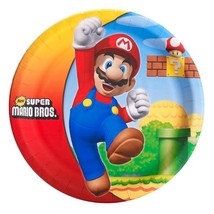 Super Mario Brothers Birthday Party Lunch Dinner Plates 8 Per Package New - $6.43