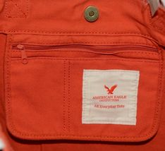 American Eagle Outfitters 7488 AE Everyday Tote Magnetic Closure Color Orange image 5