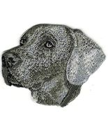 """2"""" x 2 5/8"""" Grey Gray Weimaraner Dog Breed Embroidery Patch - $5.99"""