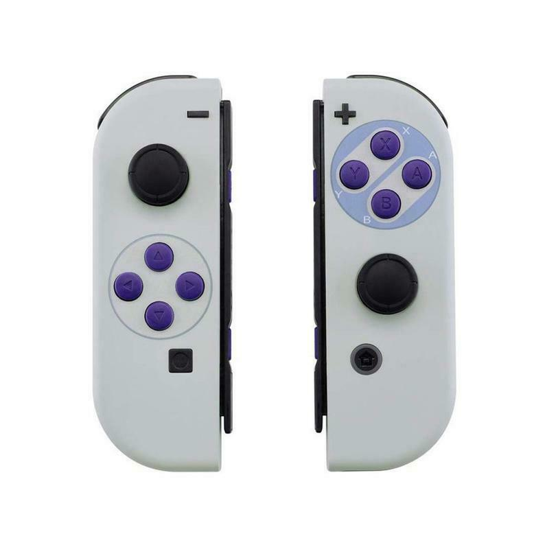 Classic SNES Style Soft Shell Cover + Buttons for Nintendo Switch Joy-Con - $24.74