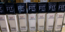 X7 Maybelline Fit Me 2pack Dewy Smooth Foundation spf18 Ivory #115 NEW - $39.59