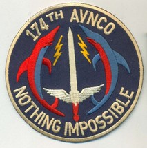 US Army 174th Assault Helicopter Company 1966 Vietnam 1971 Dolphins Patch - $11.87