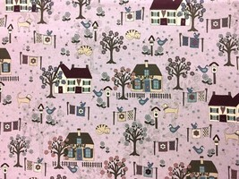RJR Quilter's Garden Houses 100% cotton fabric by the yard - $9.51