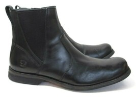 TIMBERLAND A1N3R Men's Black Leather Zip Boots Size 11.5 - $69.99