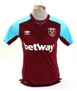 Umbro Maroon & Blue West Ham United London Short Sleeve Home Jersey Men'... - $68.24