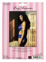 NEW LEG AVENUE WOMEN'S PREMIUM SEXY STRETCH LACE V HALTER TEDDY ROYAL-BLUE 81375 image 4