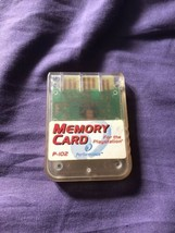 Sony Playstation PS1 Performance Memory Card P-102 TESTED FREE SHIPPING - $8.58