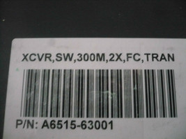 Qty Available New Finisar A6515-63001 XCVR SW 300M 2X FC TRAN Transceiver Module - $8.83