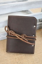Chocolate Brown Leather Passport Cover, Passport Holder 5 colors - $39.99