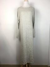 ASOS Women's Longsleeve Knit Gray Button Back Warm Maxi Modest Dress Size 8 - $32.66