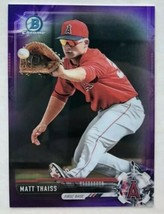 MATT THAISS 2017 BOWMAN CHROME PURPLE RC REFRACTOR SP /250 ANGELS BCP64 ... - $5.94