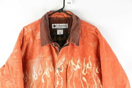 Vintage Columbia Mens XL Distressed Custom Dyed Fire Flames Lined Jacket... - $197.95
