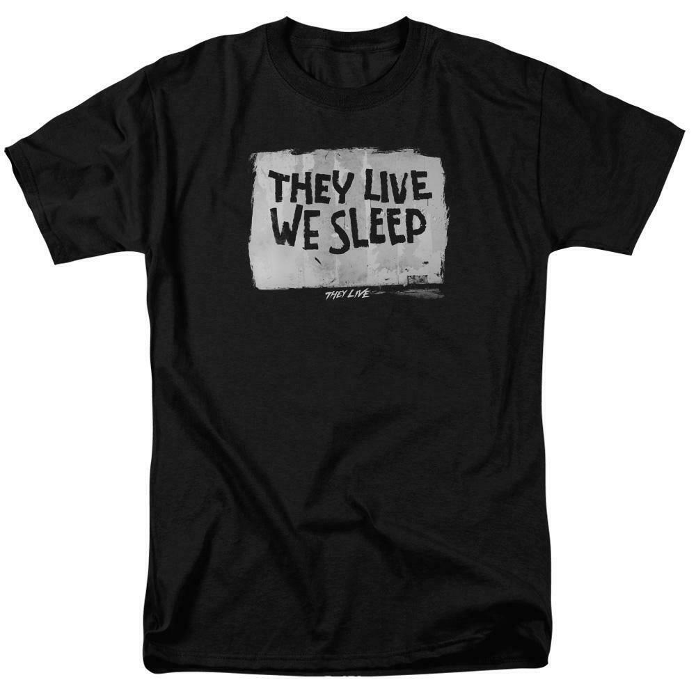 They Live t-shirt They Live We Sleep 80s horror sci-fi graphic tee UNI610