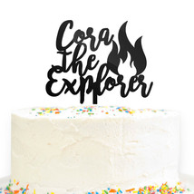 Custom Personalized Name the Explorer Birthday Cake Topper Camping Party... - $19.99
