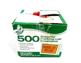 Duck Brand Security View Packing List Envelopes 4 x 5 Inch 491 Count - $14.50
