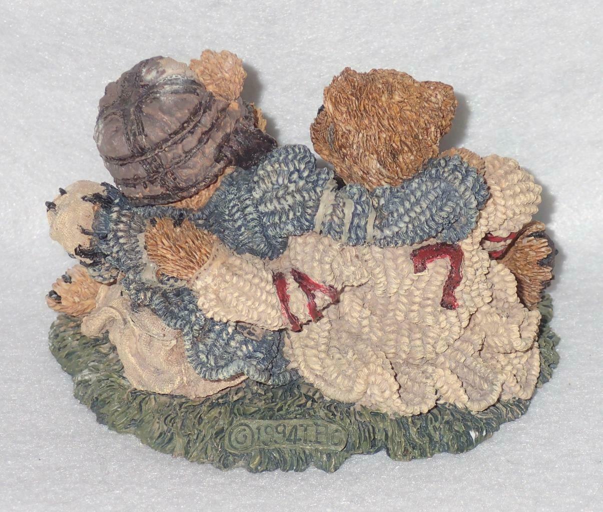 Boyd Bearstone Resin Bears Grenville & Knute Football Buddies Figurine #2255 image 2