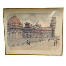 Leaning Tower of Pisa and Cathedral Square Piazza del Duomo Print 911/10000 - $69.29