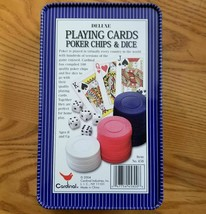 Cardinal Deluxe Playing Cards Poker Chips & Dice Set - $10.00