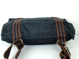 Auth Hermes Fool Toe Vassus MM Navy Cotton Canvas Shoulder Bag Purse France Used image 7