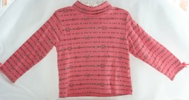 GYMBOREE Size 3T Mauve Pink Winter Top Floral With High Collar Girls - $6.92