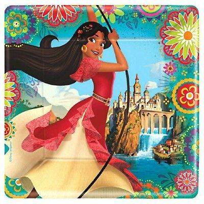 """Elena of Avalor 9"""" Square Dinner Plates (8 Count)"""