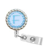 "Blue Chevron Letter ""F"" ID Badge Reel -  - FE11 - $9.99"