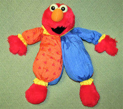"1986 Applause ELMO Parachute CLOWN Plush Stuffed 13"" Vtg Doll Red Blue Orange  - $18.69"