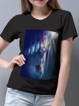 New Popular Jane D Arc Blessing the sword T-Shirt Women Black - $14.99