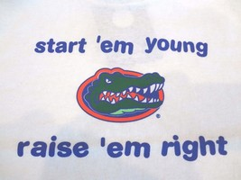 Ncaa Florida Gators Start 'em Young Raise 'em Right T-Shirt ~ Sz Toddler 2T~NWT - $12.18