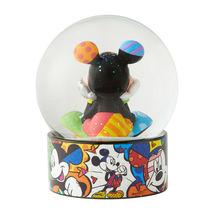 "5.12"" Disney Britto Waterball Globe w Mickey Mouse Figurine image 4"
