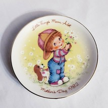 "Vintage 1982 Mothers Day ""Little Things Mean A Lot"" Avon Mini Collectors Plate - $14.14"