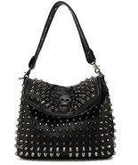 Scarleton Studded Skull Shoulder Bag H141701 - Black - $115.62