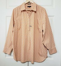 土地 END Half Button Pullover Size 22W No Iron Supima Cotton Shirt 最佳  - $20.35