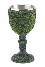 "Greenman Chalice Cold Cast Resin 7.5""High by 3.75"" Wide - $21.95"
