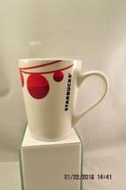 Starbucks Holiday Christmas White Mug Cup Red Large 16 oz Red Ornament B... - $9.49